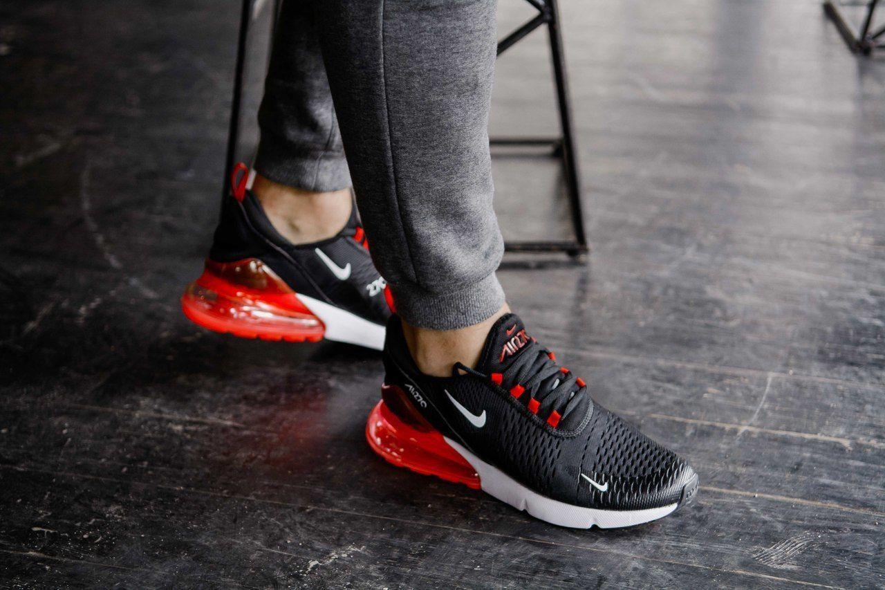 Кроссовки мужские в стиле Nike Air Max 270 Red and White (Реплика ААА+)