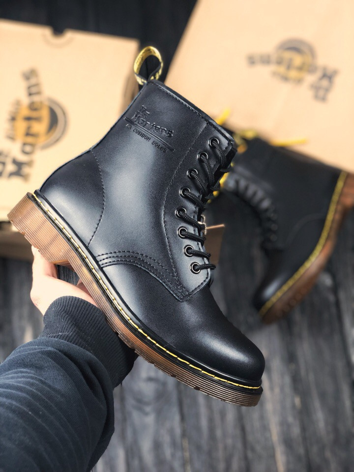 Мужские ботинки Dr.Martens (Black), черные мартенсы, мужские черные мартенс