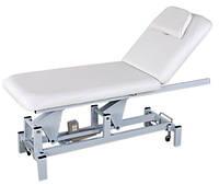 Стол для массажа 2-х секционный с электрической регулировкой высоты и положения спинки