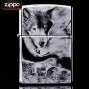 ЗАЖИГАЛКА БЕНЗИНОВАЯ Зиппо ZIPPO -«NIGHT -WOLF»Лазерная гравировка , фото 1
