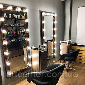 Зеркало напольное, зеркало с подсветкой в белого цвета, зеркало в салон красоты