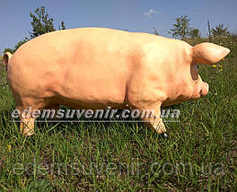 Садовая фигура Свинья большая и Хрюша, фото 2