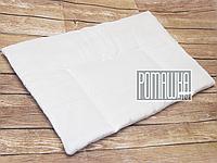 """Подушка """"нулевка"""" для новорожденного БЕЛАЯ в кроватку, силикон, гипоаллергенная, верх 100% хлопок, 58х38 см"""