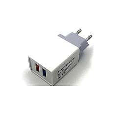 Адаптер Fast Charge AR 001 / 2 USB порта
