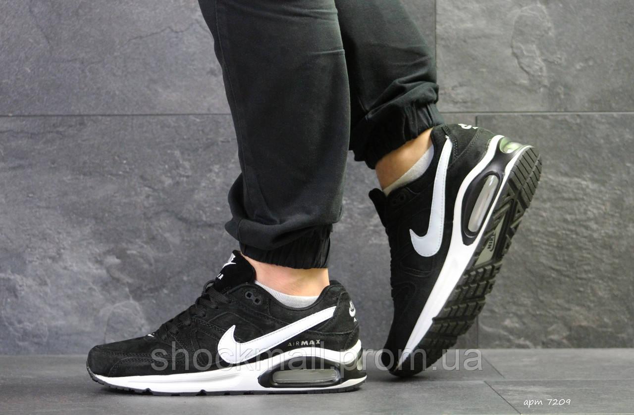 63abc3e68aba3d Кроссовки мужские Nike Air Max черные с белым Вьетнам реплика - Интернет  магазин ShockMall в Киеве