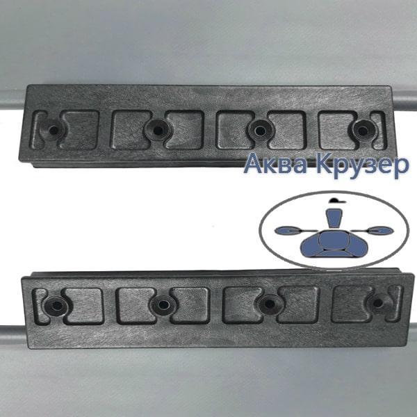 Ликтрос-ликпаз - Комплект крепления подвижного сиденья для лодки ПВХ, цвет рельса серый