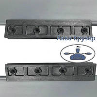 Ликтрос-ликпаз - Комплект крепления подвижного сиденья для лодки ПВХ, цвет рельса серый, фото 1