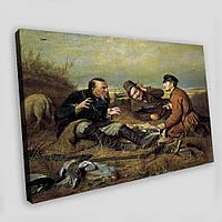 """Картина """"Охотники на привале"""" - репродукция Перова, фото 1"""