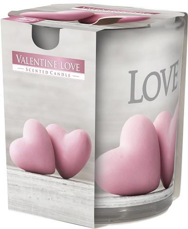 Свеча ароматизированная в стекле Bispol Love 7,8 см (sn72s-39)