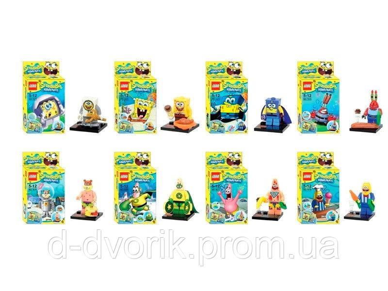 "Конструктор 1571-1578 ""Sponge Bob"" 8 видов, в кор. /480/"