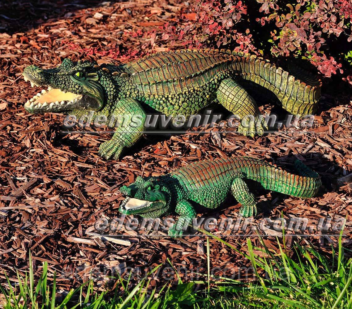 Садовая фигура Аллигатор и Аллигатор малый