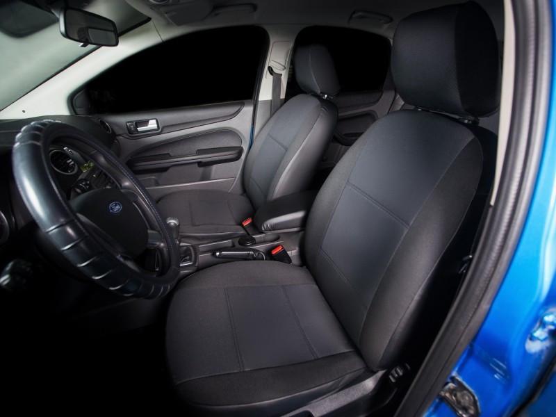 Чехлы на сиденья Шевроле Авео (Chevrolet Aveo) (универсальные, автоткань, с отдельным подголовником)