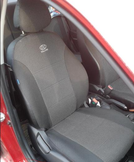 Чехлы на сиденья Форд Фиеста (Ford Fiesta) (универсальные, автоткань, с отдельным подголовником)