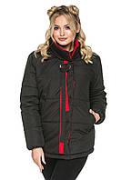Демисезонная женская куртка с воротником-стойкой