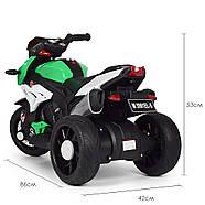 Мотоцикл детский M 3991E-5 зеленый Гарантия качества Быстрая доставка, фото 4