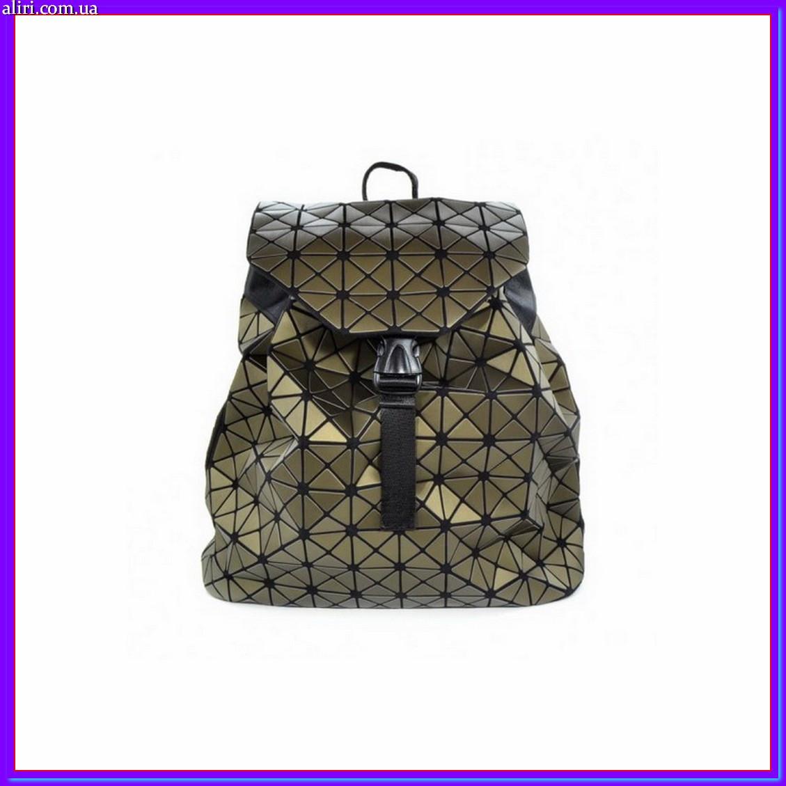 Стильный рюкзак городской женский мини бронза