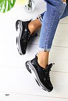 Женские кроссовки Сезон: деми Размеры: 36-40 Цвет: черный Материал: обувной текстиль+ кожаные и замшевые вста