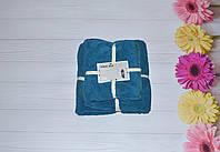 Подарочный Комплект из двух полотенец Темно-голубой