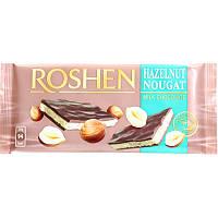 Шоколад РОШЕН молочний з горіховою нугою 90г (1/20)