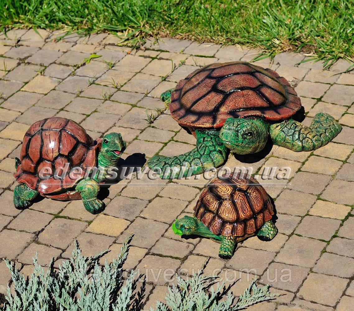 Садовая фигура Черепашонок средний, Черепаха гурман и Черепаха морская