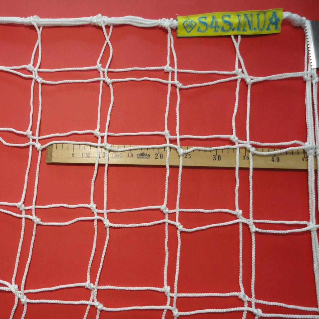 Сетка для футбола повышенной прочности «КАПРОН АНТИМОРОЗ 1,5» белая (комплект из 2 шт.)