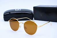 Солнцезащитные очки круглые LF2216 коричневые
