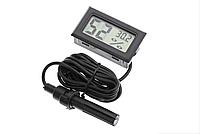 Гигрометр термометр  LCD (-50+70) черный