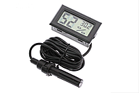 Цифровой гигрометр-термометр  LCD (-50+70) черный.