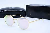 Солнцезащитные очки круглые LF2216 розовые
