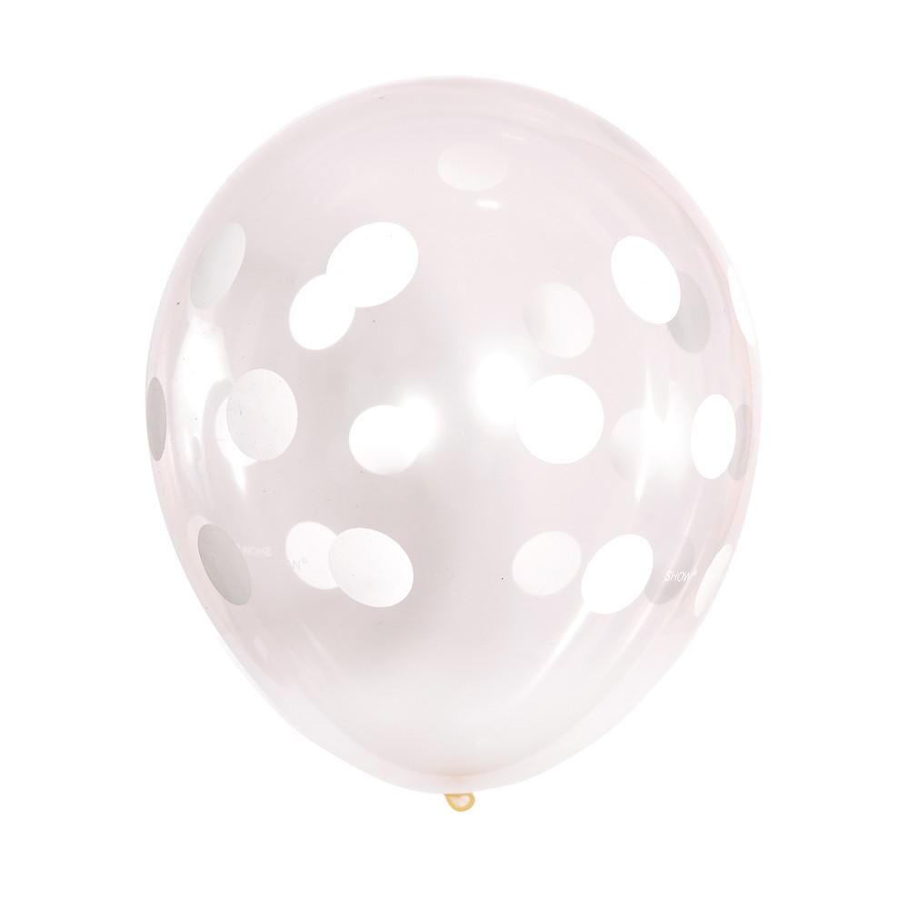Шар 12/30см прозрачный горох горошек кристалл (Артшоу)