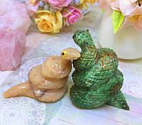 Статуэтки из натурального камня   влюблённые змейки   статуэтка змея, фото 1