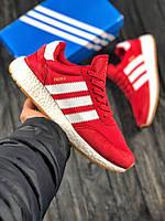 Мужские кроссовки в стиле Adidas Iniki (red/white), мужские красные кроссовки адидас иники (Реплика ААА), фото 1