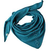 Оригинальная косынка вязаная, бактус, шарф, шарф-косынка