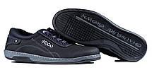 Кросівки чоловічі репліка Ecco чорні, фото 2
