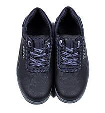 Кросівки чоловічі репліка Ecco чорні, фото 3