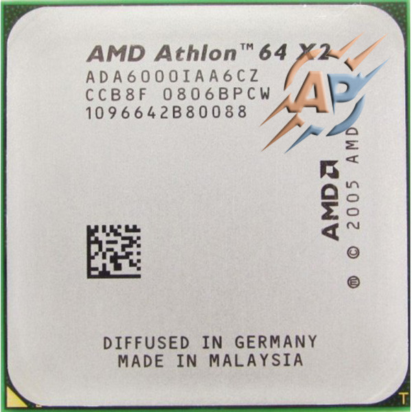 Процессор AMD Athlon 64 X2 6000+ (3000MHz, сокет AM2) ADA6000IAA6CZ  89W