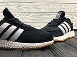 Мужские кроссовки в стиле Adidas Iniki (black/white), черные кроссовки адидас иники (Реплика ААА), фото 5