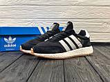 Мужские кроссовки в стиле Adidas Iniki (black/white), черные кроссовки адидас иники (Реплика ААА), фото 2