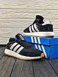 Мужские кроссовки в стиле Adidas Iniki (black/white), черные кроссовки адидас иники (Реплика ААА), фото 6
