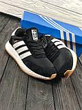 Мужские кроссовки в стиле Adidas Iniki (black/white), черные кроссовки адидас иники (Реплика ААА), фото 4