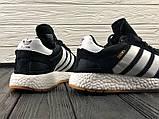 Мужские кроссовки в стиле Adidas Iniki (black/white), черные кроссовки адидас иники (Реплика ААА), фото 7