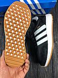 Мужские кроссовки в стиле Adidas Iniki (black/white), черные кроссовки адидас иники (Реплика ААА), фото 8