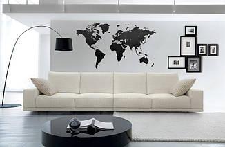 Трафарет карта мира для декора под покраску, одноразовый 80 х 135 см, фото 2