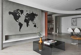 Трафарет карта мира для декора под покраску, одноразовый 80 х 135 см, фото 3