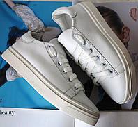 White! Белые очень стильные кожаные кеды обувь весна лето для мальчиков и девочек унисекс.