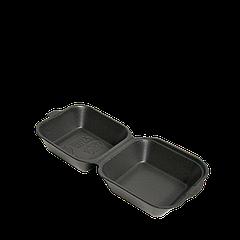 Ланч-бокс ЧЁРНЫЙ HB-7 УПАКОВКА 15шт (мини сендвич) 135x135x70 (PS полистирол)