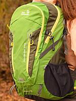 Рюкзак спортивный 40 литров New Outlander для путешествий; городской, велорюкзак- 1221/ зеленый