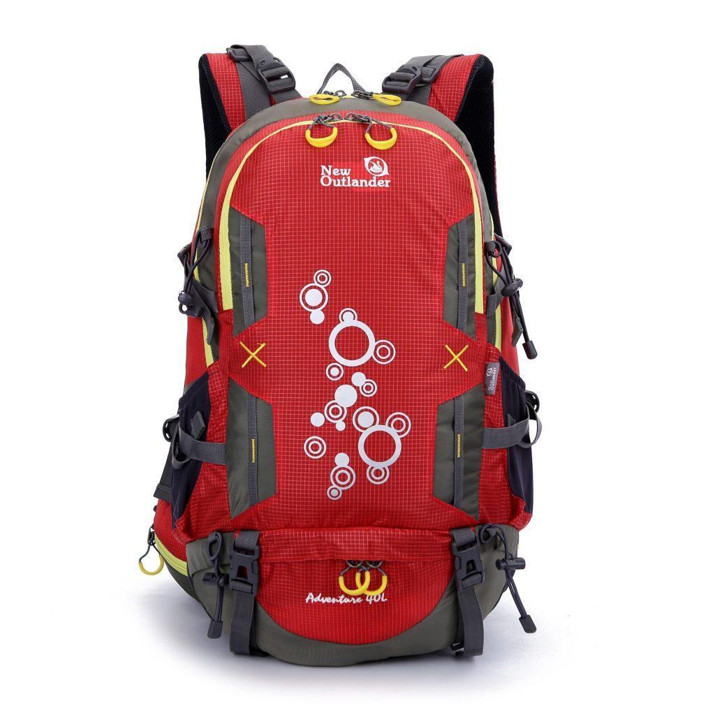 Рюкзак трекинговый, походный 40 л New Outlander 1217/ красный