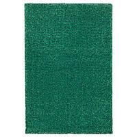 Ковёр с коротким ворсом IKEA LANGSTED 133x195 см зеленый 504.239.45