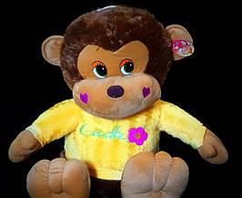 Мавпа 50 см в кофтині м'яка іграшка весела мавпа музична дитячі іграшки